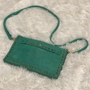 Studded Faux Leather Crossbody Purse